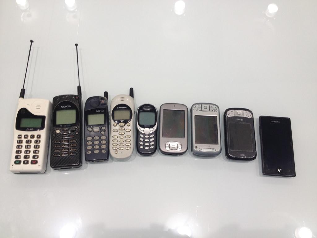 20 Jahre Rufbereitschaft dargestellt in Handys!