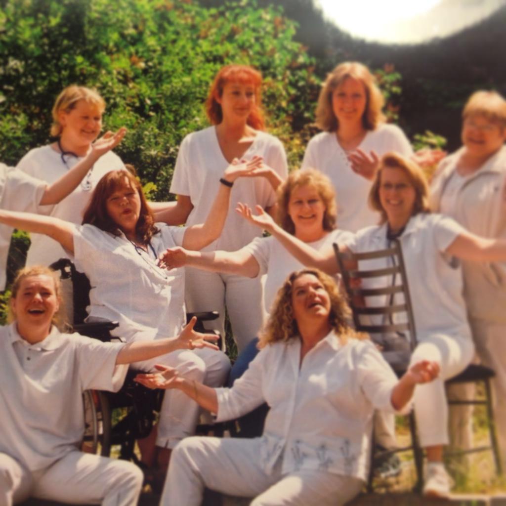 Die Schwestern beim ATPS 2004: Alice, Andrea und Heide